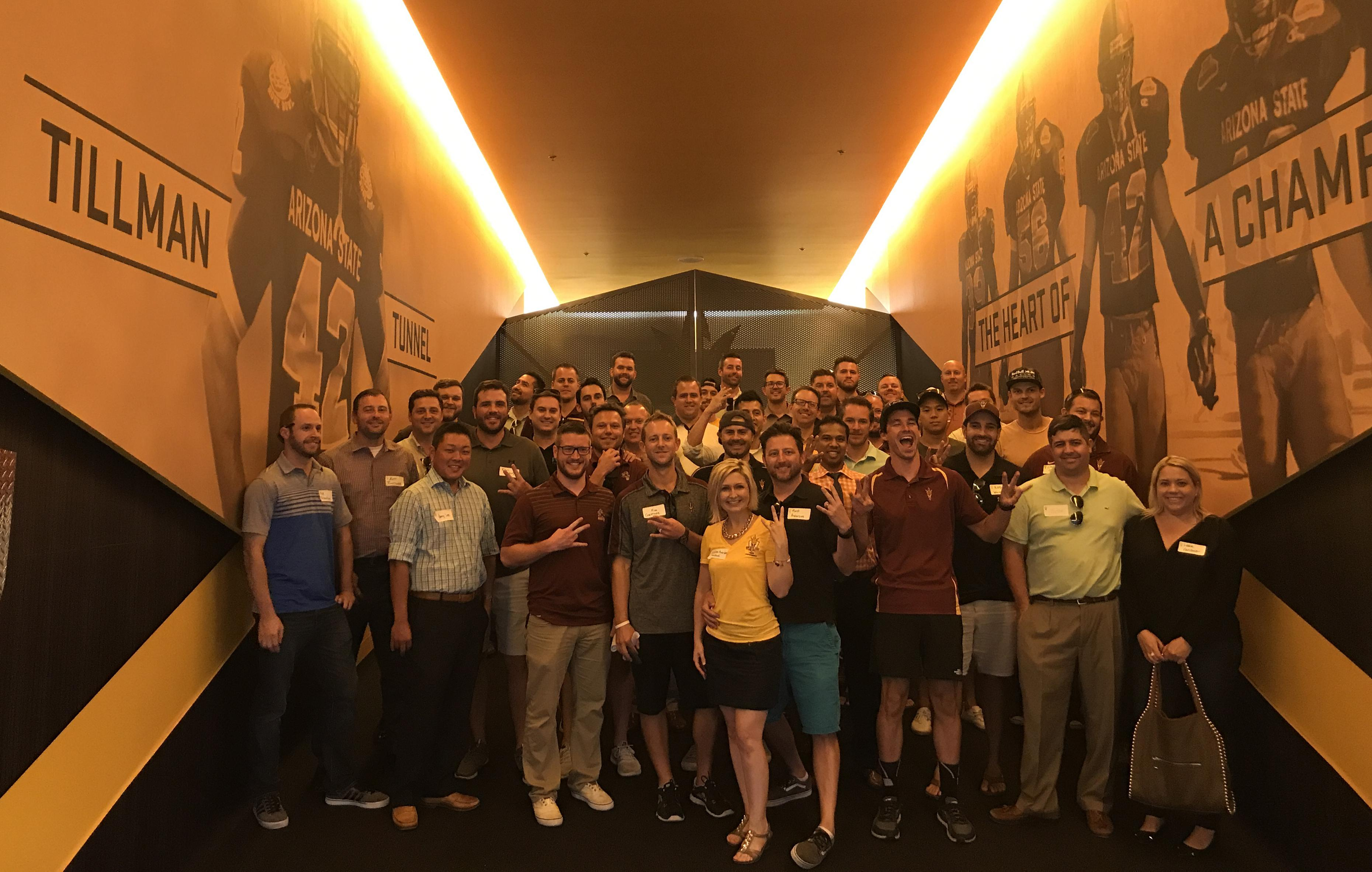 Sun Devil Club Young Professionals Group Sun Devil Football Tillman Tunnel