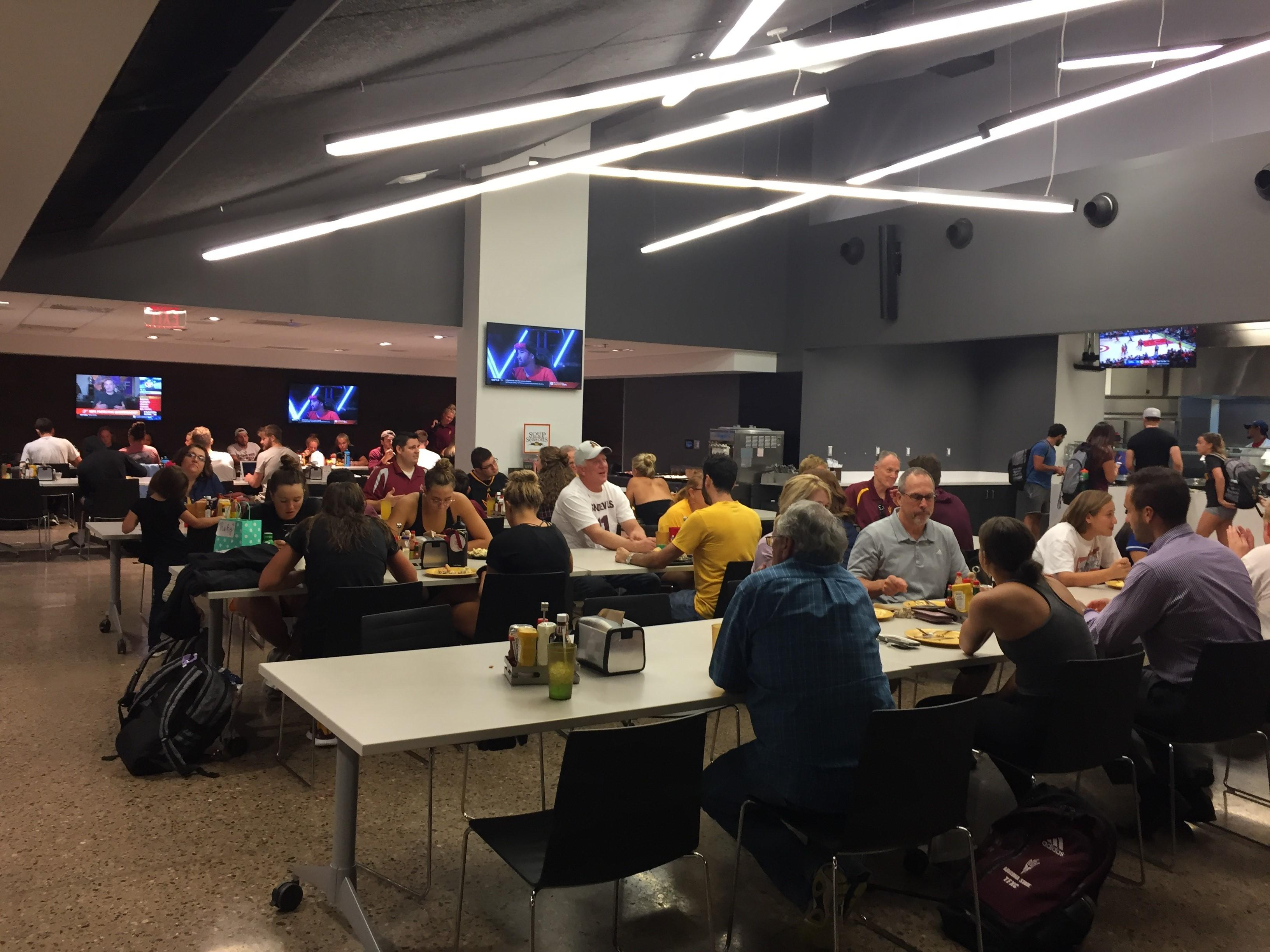 Sun Devil Club hosts family dinner for supporters in Student-Athlete Facility
